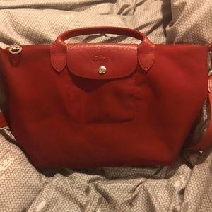 Red Longchamp purse
